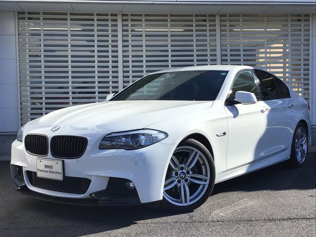 BMW 5シリーズ 523dブルーパフォーマンスMスポーツパッケージ Mパフォーマンス製フロントカーボンスポイラー カーボントランクスポイラー 19インチアルミ ブラックキドニーグリル ウッドパネル リアガラスフイルム 地デジ付HDDナビ アルミペダル パドルシフト