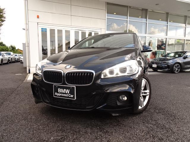 BMW 218dグランツアラー Mスポーツ アドバンスドアクティブセーフティーパッケージ コンフォートパッケージ ACC ヘッドアップディスプレイ 電動リアゲート 社外地デジ 社外リアモニター LEDヘッドライト パドルシフト リアフイルム