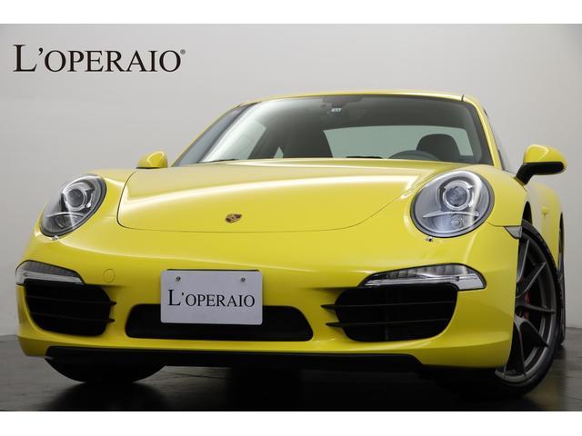ポルシェ 911カレラS Sport-Chrono PKG スポーツエグゾースト スポーツステアリング アルカンターラルーフライナー  電動格納ミラー
