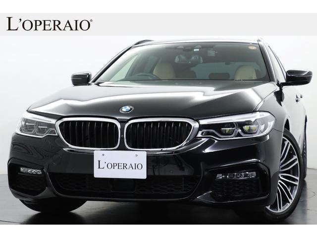 BMW 523iツーリング Mスポーツ ハイラインパッケージ 有償色 ベージュ革 純正19インチアルミ 前後シートヒーター LEDヘッドライト シフトパドル ドライビングアシスト+ 純正HDDナビ 全周囲カメラ 地デジ 電動リアゲート