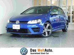 VW ゴルフRベースグレード 純正SDナビ バックカメラ 黒革 ETC
