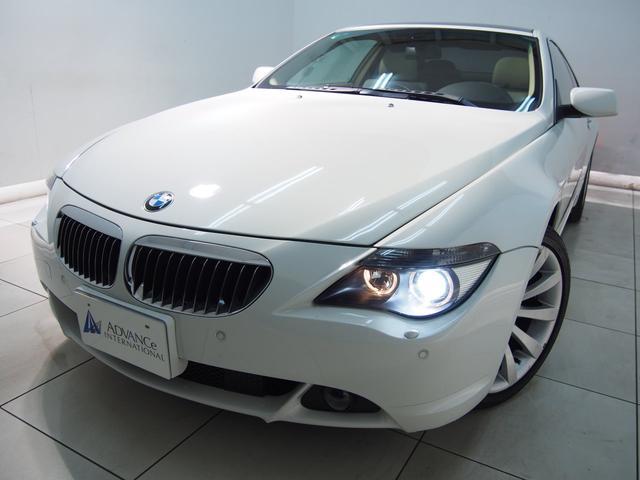 BMW 650iアイボリー革HDDガラスSRクルコン純19AW