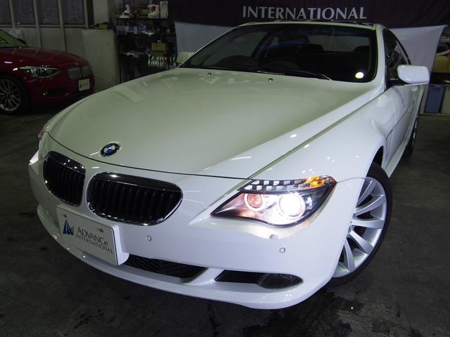 BMW 630i黒革ガラスSR前後パークセンサー純正19AW