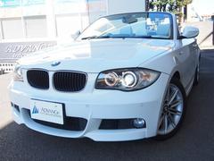 BMW120i カブリオレMスポーツベージュ革黒幌純正ナビ17AW