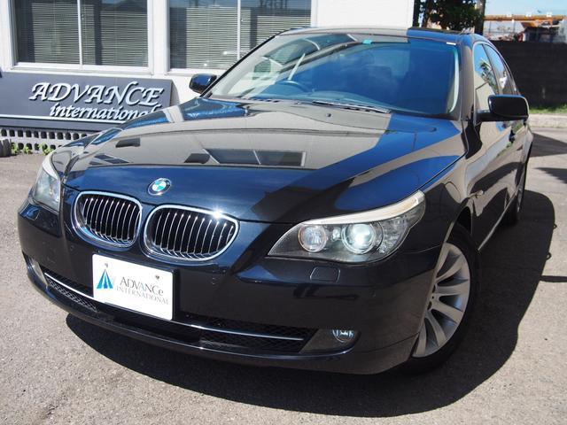 BMW 530i後期モデル黒革ガラスSR純正HDDナビ17AW