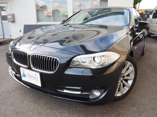 BMW 528i左H黒革ガラスSR純ナビ地デジBカメ純正18AW