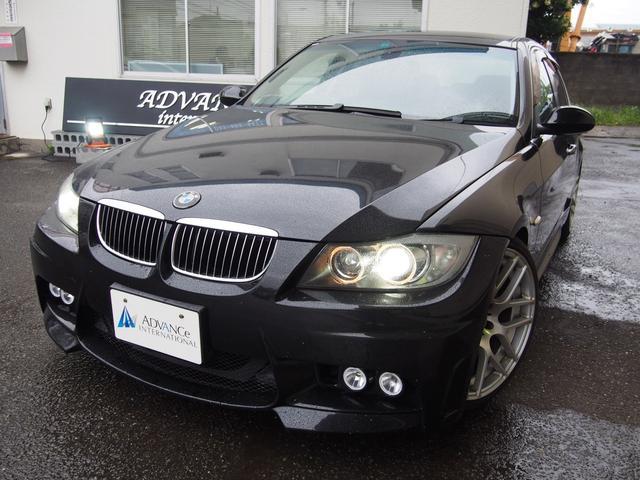 BMW 323iハイラインパッケージ黒革純正ナビ社外エアロ19AW