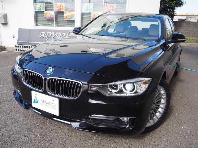BMW 320iラグジュアリー黒革1オーナーACC純正17AW