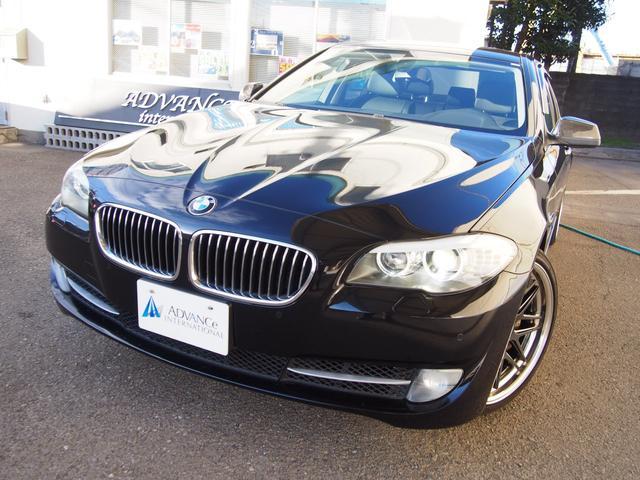 BMW 535i黒革左H純ナビFカメBカメTOPビュWORK20AW