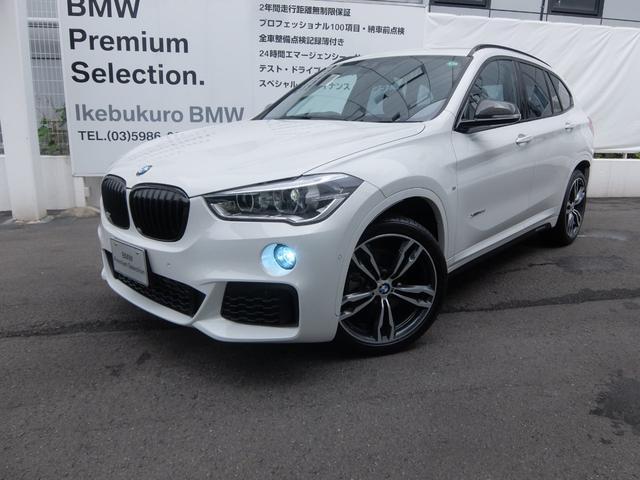 BMW X1 xDrive 18d Mスポーツハイラインパッケージ オプションホイール19インチ・純正カーボンドアミラーカバー・ブラックキドニーグリル・ACシュニッツァールーフスポイラー・アルミペダル・純正レザーシート