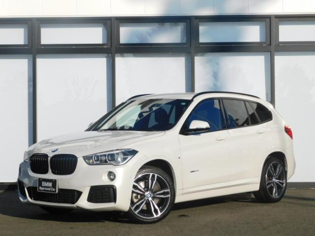 BMW X1 xDrive 20i Mスポーツ 19AWアルミトリムLEDフルセグTVコンフォートアクセスSOSミラーETC電動トランク前後PDCシートヒーターCD/DVDブラックキドニーグリルMコレ社外ドラレコAUXアルカンターラシート