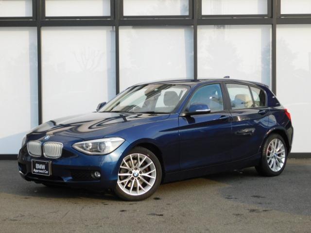 BMW 1シリーズ 116i ファッショニスタ 17AW コンフォートアクセス 白革シート シートヒーター バックカメラ センサー SOSコール