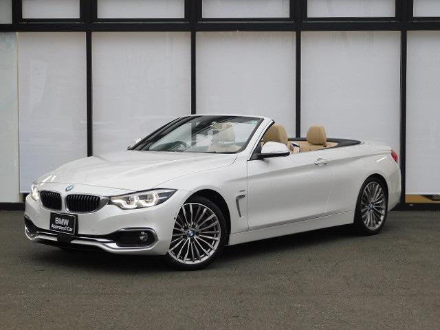 BMW 440iカブリオレ ラグジュアリー ベージュレザーシートSOSヘッドアップディスプレイACCハーマンカードン全方位カメラMFSパドルシフトLED19インチアルミホイールUSBコンフォートアクセスPDCウッドトリム
