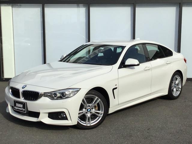 BMW 420iグランクーペ Mスポーツ 18AW 前車追従クルコン バックカメラ リアセンサー オートトランク コンフォートアクセス アルカンタラ電動シート パドルシフト インテリジェントセーフティ ミラーETC