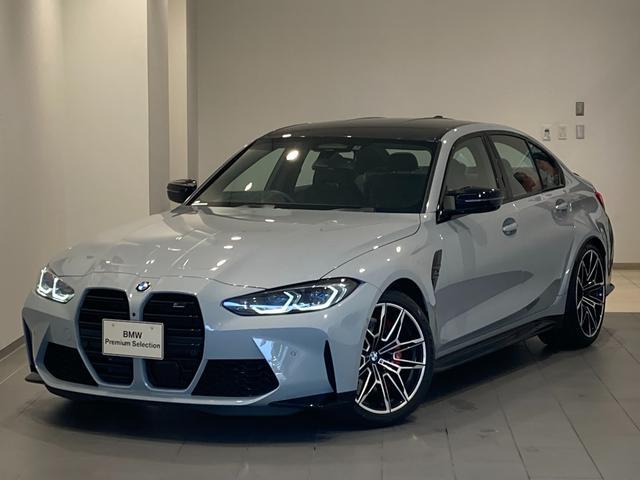 BMW M3セダン コンペティション 現行モデル 禁煙車 1オーナー 新外装色 パーキングアシストプラス ベンチレーションシート ハーマンカードンスピーカー ブラックレザーシート 全方位カメラ アクティブクルーズコントロール