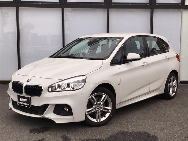 BMW 2シリーズ 218dアクティブツアラー Mスポーツ LEDヘッドライト17インチアロイホイールCD/DVDパーキングアシストUSB/AUXパドルシフト前後障害物センサーオートトランクSOSコールバックカメラミラーETC