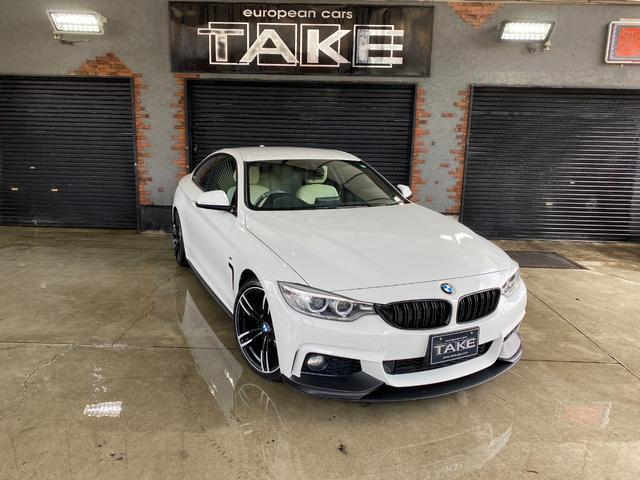 BMW 4シリーズ 420iクーペ Mスポーツ Mperformance仕様フロントリップ&サイドアンダースカート・社外19インチホイール・CBトランクスポイラー・社外地デジ・Dottyシートカバー・艶有りブラックグリル