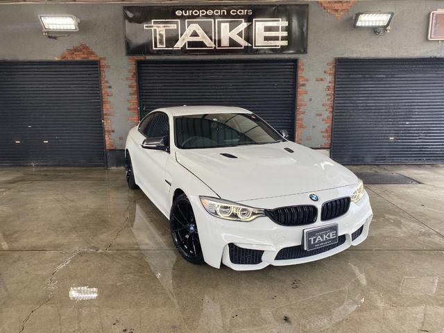 BMW 4シリーズ 420iクーペ Mスポーツ M4仕様 クローム調4本出しマフラーキット 当店19インチホイール カーボンドアミラー&トランクスポイラー ブラックグリル M4仕様ダクトボンネット LEDヘッドライト インテリジェントセーフティー