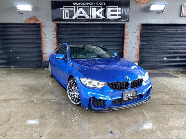BMW 4シリーズ 420iクーペ Mスポーツ M4仕様 1オナ ビルシュタイン車高調 スリットドリルドローター performanceキャリパー コーディング カーボンラッピングルーフ 4本出しマフラー 地デジナビ ヘッドアップディスプレイ