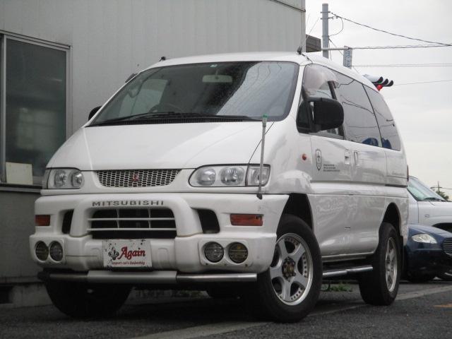 三菱 シャモニーハイルーフ4WD黒革シート 地デジSDナビ