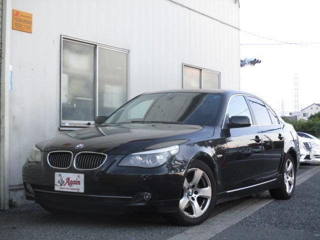 BMW 525iハイラインパッケージ 後期 サンルーフ 黒革 HDDナビ CD スマートキーレス クルーズコントロール ETC シートヒーター パワーシート HID 17AW