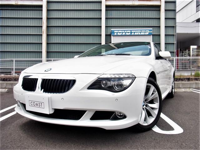 BMW 6シリーズ 630i ワンオーナー禁煙車 右ハンドル チルト機構付きガラスルーフ 内装アイボリーレザー シートヒーター 純正HDDナビ 地デジTV DVDチェンジャー ミラーETC Egプッシュ ディーラー整備 スペアキー