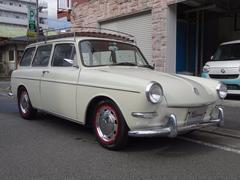 VW タイプIIIバリアントツインキャブローダウンレッド革シートETCキャリア