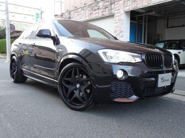 BMW X4 xDrive 35i Mスポーツ 3DDesignマフラー社外3P22インチAWローダウン電動リアゲートキックセンサー機能ドライビングアシストアクティブクルーズコントロールサンルーフ黒革シートヒーター3L 直列6気筒ツーインターボ