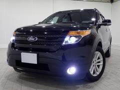 フォード エクスプローラーXLT エコブーストEXC限定1オナFSBカメHID黒革SR