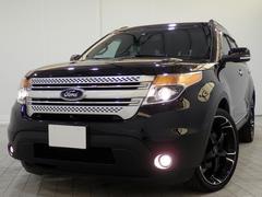 フォード エクスプローラーXLT エコブーストエクスクルーシブ限定車22AW黒革2SR