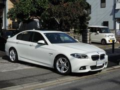 BMW528i Mスポーツ 左H ワンオーナー サンルーフ 黒革S