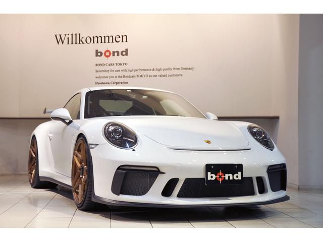 ポルシェ 911GT3 クラブスポーツPKG スポーツクロノPKG PCCB レザーインテリア カーボンインテリア フロントリフター アクラポビッチエキゾーストシステム(SLIP-ON LINE) AL13鍛造21インチAW