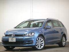 VW ゴルフヴァリアントTSIハイライン レザーP黒革 スマートキー ナビ 2年保証