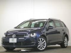 VW ゴルフヴァリアントTSIハイラインBMT レザーP黒革ディスカバナビ 2年保証