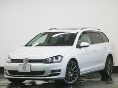 VW ゴルフヴァリアントTSIハイラインBMT 1オナ パノラマSR 黒革 2年保証