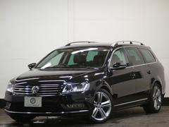 VW パサートヴァリアントRラインED レザーP 黒革 1オーナ 地デジナビ 2年保証