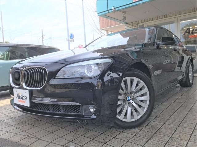 BMW 750i 1オーナー・黒革・SR・リアTV・リアシートH