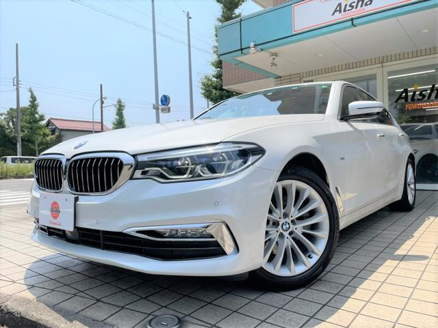 BMW 5シリーズ 523d ラグジュアリー 1オーナー・ベージュレザー・ヘッドアップディスプレイ・ソフトクローズドア・360カメラ・LED・ACC・18AW・ナビ・TV・ETC