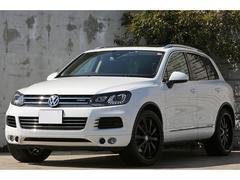 VW トゥアレグルーフレールP パノラマSR HRE22インチAW 茶革