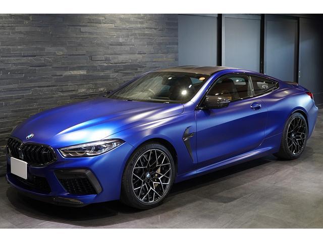 BMW M8クーペ コンペティション カーボンエクステリア&MドライバーズPKG カーボンブレーキ フルレザーメリノ OPマットボディカラーフローズンマリナブルー