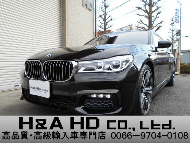 BMW 740i Mスポーツ ブラウンレザー S/R 20ihAW