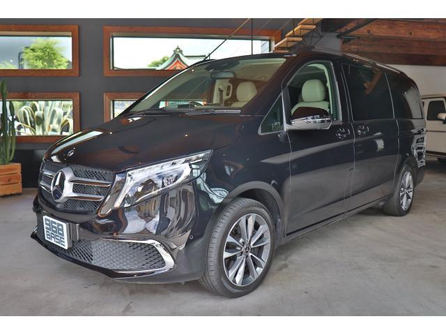 V220d アバンギャルド ロング 1オーナー 新車保証付き エクスクルーシブシートPKG ベージュレザー シートヒーター シートクーラー オットマンシート ベンチシート レーダーセーフティ パドルシフト ナビ 地デジ バックカメラ