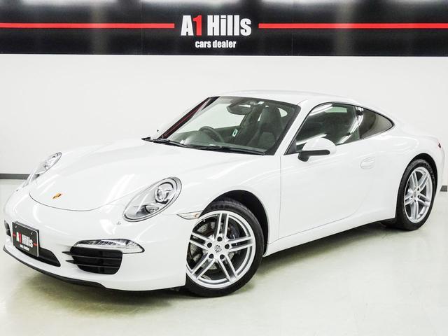 ポルシェ 911 911カレラ 右ハンドル パドルシフト スポーツステアリング 電動格納ドアミラー シートヒーター ブラックレザーシート バックカメラ ナビ テレビ CD ETC タイヤ空気圧センサー ドラレコ レーダー探知機