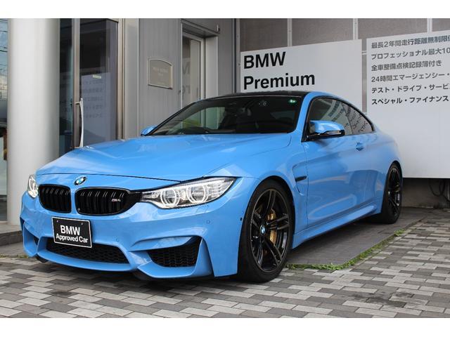 BMW M4クーペ DCT・ヤスマリーナブルー・カーボンブレーキOP・カーボンステアリング・インテリアカーボントリム