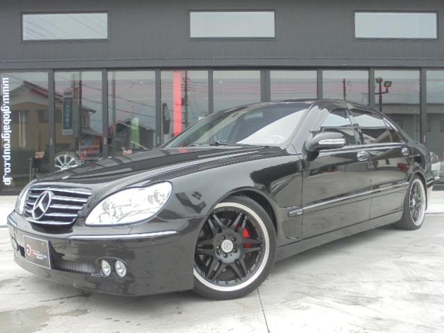 メルセデス・ベンツ S500L左H ブラバス仕様 黒革 SR HDDナビ HID