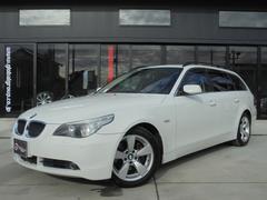 BMW525iツーリングハイラインPKG 本革 SR HDDナビ