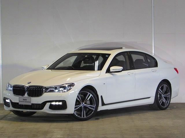 BMW 7シリーズ 740d xDrive Mスポーツ 認定中古車 弊社デモカー ワンオーナー 禁煙車 パノラマガラスサンルーフ ハーマンカードンサウンド 純正HDDナビ DTV アラウンドビューカメラ 障害物センサー リアローラーブラインド