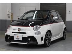 アバルト595Cツーリズモ 認定中古車 電動ブラックソフトトップ ビコロローレカラー ブラウンレザーシート パドルシフト 純正17インチアルミホイール キセノンヘッドライト ETC付