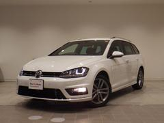 VW ゴルフヴァリアントRライン 認定中古車 ワンオーナー 純ナビ 純R17AW