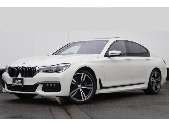 BMW 740i Mスポーツ ワンオーナー 黒革 純正20AW